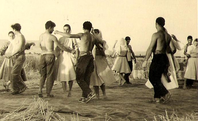 פסח 1956- טקס  הבאת העומר. צילם- אליהו כהן ז'ל